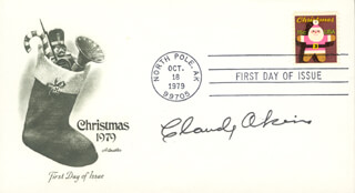 CLAUDE AKINS - FIRST DAY COVER SIGNED