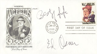 ED ASNER - FIRST DAY COVER WITH AUTOGRAPH SENTIMENT SIGNED