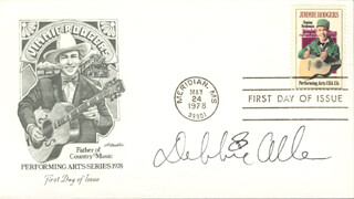 DEBBIE ALLEN - FIRST DAY COVER SIGNED