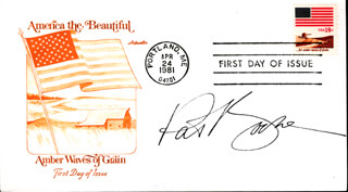 PAT BOONE - FIRST DAY COVER SIGNED
