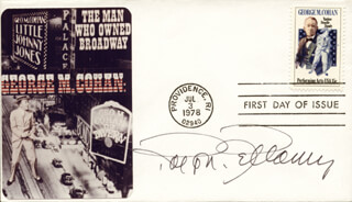 RALPH BELLAMY - FIRST DAY COVER SIGNED