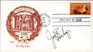 JOEY BISHOP - FIRST DAY COVER SIGNED