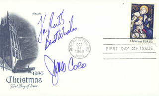 JAMES JIMMY COCO - AUTOGRAPH NOTE SIGNED