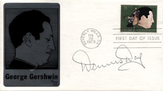 DENNIS DAY - FIRST DAY COVER SIGNED