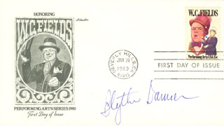 BLYTHE DANNER - FIRST DAY COVER SIGNED