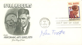 JOHN FORSYTHE - FIRST DAY COVER SIGNED