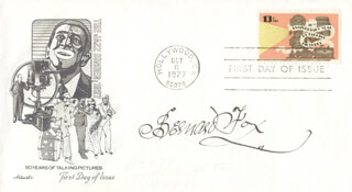 BERNARD FOX - FIRST DAY COVER SIGNED