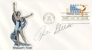 ANITA GILLETTE - FIRST DAY COVER SIGNED