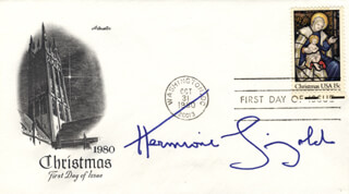 HERMIONE GINGOLD - FIRST DAY COVER SIGNED