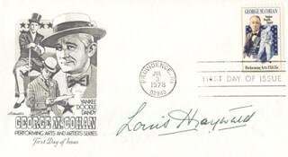 LOUIS HAYWARD - FIRST DAY COVER SIGNED