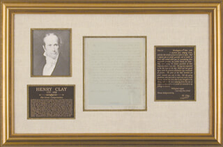 HENRY CLAY - AUTOGRAPH LETTER SIGNED 03/04/1850
