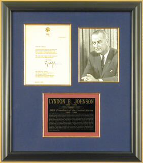 PRESIDENT LYNDON B. JOHNSON - TYPED LETTER SIGNED 04/10/1969