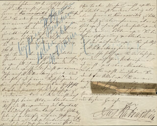 ANTON RUBINSTEIN - AUTOGRAPH LETTER SIGNED 01/24/1871