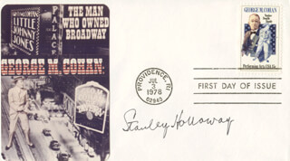 STANLEY HOLLOWAY - FIRST DAY COVER SIGNED