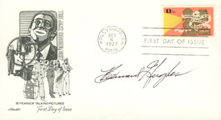 BARNARD HUGHES - FIRST DAY COVER SIGNED