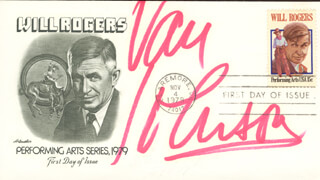 VAN JOHNSON - FIRST DAY COVER SIGNED