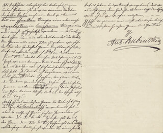 ANTON RUBINSTEIN - AUTOGRAPH LETTER SIGNED 05/18/1880