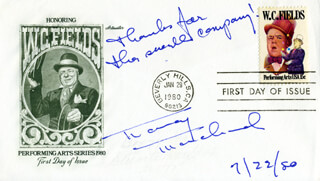 NANCY MARCHAND - FIRST DAY COVER WITH AUTOGRAPH SENTIMENT SIGNED 07/22/1980