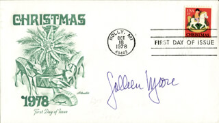 COLLEEN MOORE - FIRST DAY COVER SIGNED
