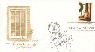 JANE RUSSELL - FIRST DAY COVER WITH AUTOGRAPH SENTIMENT SIGNED