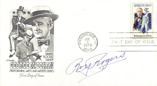 ROY ROGERS - FIRST DAY COVER SIGNED