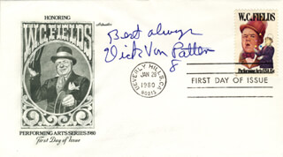 DICK VAN PATTEN - FIRST DAY COVER WITH AUTOGRAPH SENTIMENT SIGNED