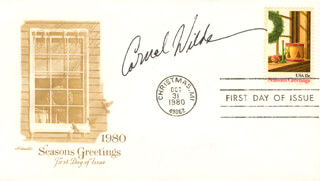CORNEL WILDE - FIRST DAY COVER SIGNED