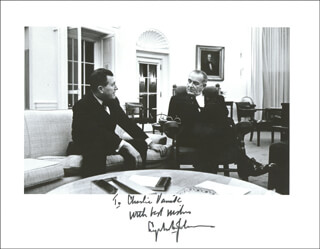 PRESIDENT LYNDON B. JOHNSON - AUTOGRAPHED INSCRIBED PHOTOGRAPH CIRCA 1966