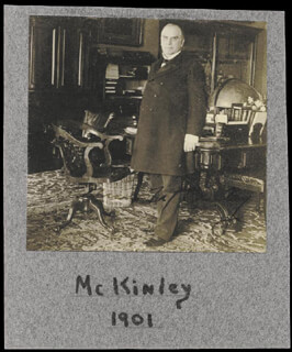 Autographs: PRESIDENT WILLIAM McKINLEY - PHOTOGRAPH SIGNED