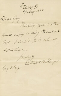 PRESIDENT RUTHERFORD B. HAYES - AUTOGRAPH LETTER SIGNED 08/29/1888