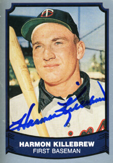 HARMON KILLEBREW - TRADING/SPORTS CARD SIGNED