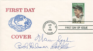 WARREN SPAHN - FIRST DAY COVER SIGNED CO-SIGNED BY: BOB GIBSON, BOB FELLER