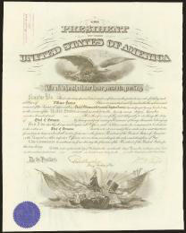 PRESIDENT WILLIAM H. TAFT - MILITARY APPOINTMENT SIGNED 12/17/1909 CO-SIGNED BY: BRIGADIER GENERAL ROBERT SHAW OLIVER