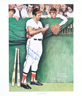 BROOKS ROBINSON - PRINTED ART SIGNED IN INK