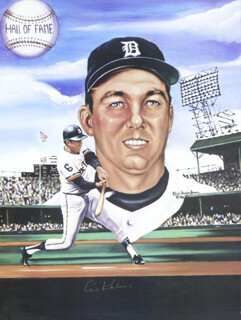 AL MR. TIGER KALINE - PRINTED ART SIGNED IN INK