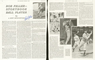 BOB FELLER - BIOGRAPHY SIGNED