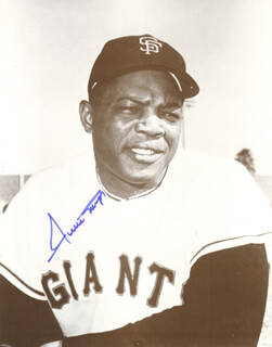 WILLIE SAY HEY KID MAYS - AUTOGRAPHED SIGNED PHOTOGRAPH