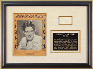 RUDY VALLEE - AUTOGRAPH