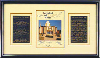 HALL OF FAME FOOTBALL - PROGRAM COVER SIGNED CO-SIGNED BY: SONNY JURGENSEN, TERRY BRADSHAW, JOHNNY UNITAS, MEL BLOUNT, DON MAYNARD