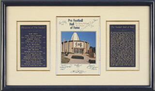 HALL OF FAME FOOTBALL - PROGRAM SIGNED CIRCA 1989 CO-SIGNED BY: SONNY JURGENSEN, TERRY BRADSHAW, BOB LILLY, JOHNNY UNITAS, MEL BLOUNT, DON MAYNARD