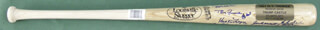 THE 1961 NEW YORK YANKEES - BASEBALL BAT SIGNED CIRCA 1990 CO-SIGNED BY: YOGI BERRA, BUD DALEY, ART DITMAR, JOE DE MAESTRI, BILLY GARDNER, JIM COATES, BILL MOOSE SKOWRON, CLETE BOYER, HECTOR LOPEZ, JOHNNY BLANCHARD, RYNE DUREN, JOHNNY SAIN, AL LITTLE AL DOWNING, BILL STAFFORD, JESSE GONDER, BOBBY RICHARDSON, DANNY McDEVITT, JOHNNY JAMES, JACK REED, LUIS YO-YO ARROYO, ROLLIE SHELDON, EARL TORGESON, TEX CLEVENGER, WHITEY FORD, BOB HALE, RALPH HOUK, TOM TRESH, RALPH TERRY, BOB TURLEY, DERON JOHNSON, HAL RENIFF