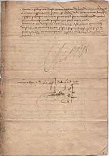 KING CHARLES IX (FRANCE) - DOCUMENT SIGNED 1567