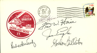 FRED W. HAISE JR. - COMMEMORATIVE ENVELOPE SIGNED CO-SIGNED BY: MAJOR GENERAL JOE ENGLE, VICE ADMIRAL RICHARD H. TRULY, COLONEL C. GORDON FULLERTON