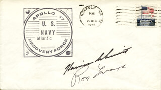 CAPTAIN RONALD E. EVANS - COMMEMORATIVE ENVELOPE SIGNED CO-SIGNED BY: HARRISON JACK SCHMITT