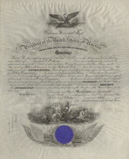 PRESIDENT WILLIAM H. TAFT - NAVAL APPOINTMENT SIGNED 04/13/1911 CO-SIGNED BY: BEEKMAN WINTHROP