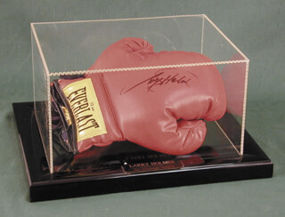 LARRY HOLMES - BOXING GLOVES SIGNED