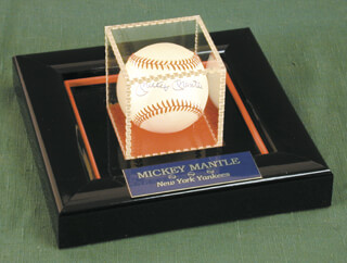 MICKEY MANTLE - AUTOGRAPHED SIGNED BASEBALL