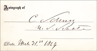 Autographs: MAJOR GENERAL CARL SCHURZ - SIGNATURE(S) 03/31/1869