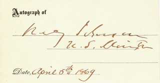 REVERDY JOHNSON - AUTOGRAPH 04/05/1869