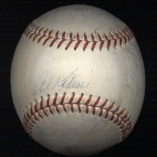 Autographs: THE DETROIT TIGERS - BASEBALL SIGNED CO-SIGNED BY: NORM CASH, JIM LANDIS, DON WERT, RAY OYLER, BILL FREEHAN, DAVE WICK WICKERSHAM, DICK McAULIFFE, JIM NORTHRUP, JOHNNY SAIN, WALLY MOSES, BILL HEATH, JIM PRICE, EARL MOOSE WILSON, PHIL THE VULTURE REGAN, MIKE G. MARSHALL, HANK AGUIRRE, GATES BROWN, MICKEY LOLICH, AL MR. TIGER KALINE